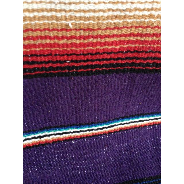 Image of Purple Striped Serape-Style Throw