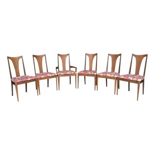 Broyhill Sculptura Mid-Century Modern Set - Extendable Dining Table and 6 Chairs