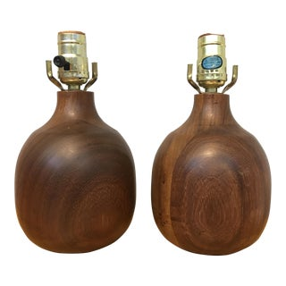 Solid Wood Lamps - a Pair
