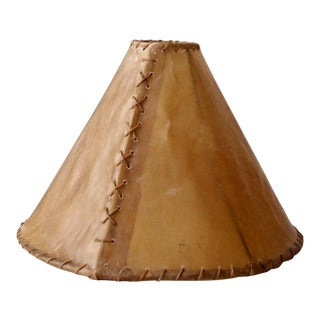 Vintage Hide Lamp Shade