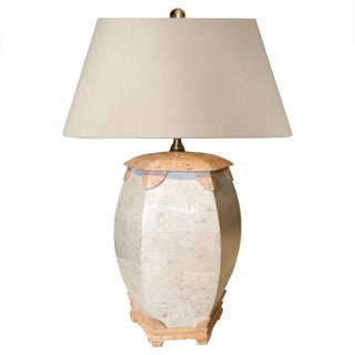Maitland-Smith Tesselated Stone Lamp