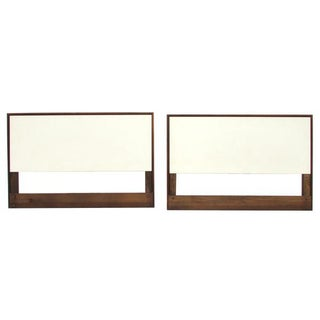 Knoll White Laminate Twin Headboards - Pair