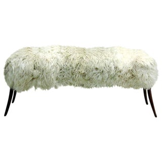 Goat Skin Bench in the Manner of Ico Parisi