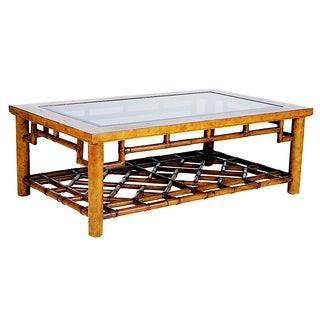 David Francis Rattan Coffee Table