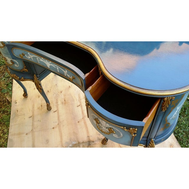 Hand-Painted French Desk - Image 9 of 10