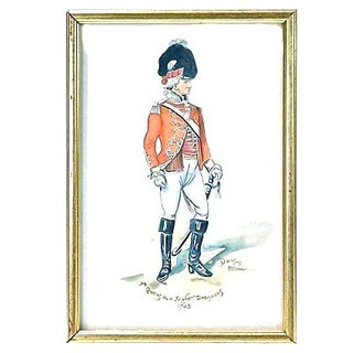 D. Wilson Antique Soldier Watercolor