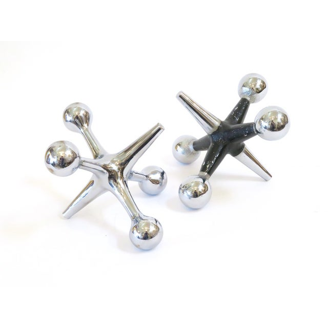 Image of Oversized Chrome Jacks - A Pair