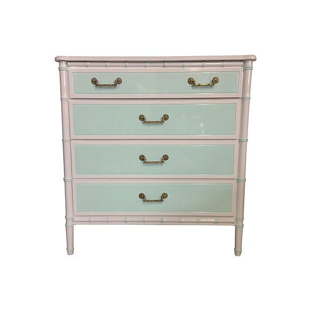 Mint & White Faux Bamboo Dresser - Image 1 of 6