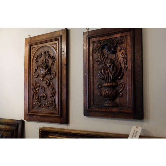 Antique European Carved Walnut Panel - Image 3 of 5