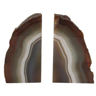 Geode Slice Bookends - A Pair