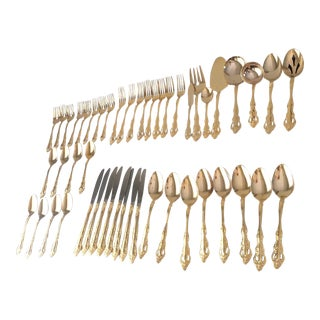 Vintage Gold Plated Flatware - Service for 8