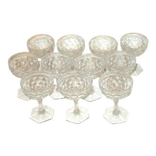 Vintage Cut Crystal Liqueur Cordial Brandy Glasses - Set of 11