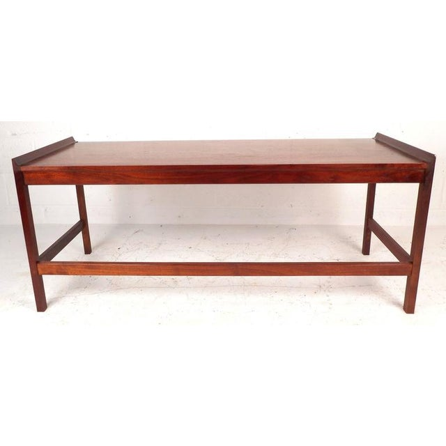 Mid-Century American Walnut Console Table - Image 3 of 5