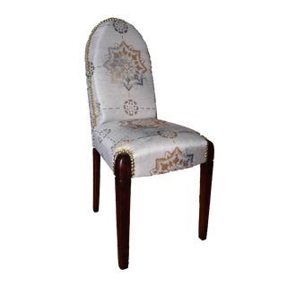 Petit Accent Chair With Gold Toned Nail Heads