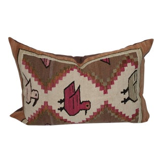 Mexican Pictorial Indian Weaving Bolster Pillow