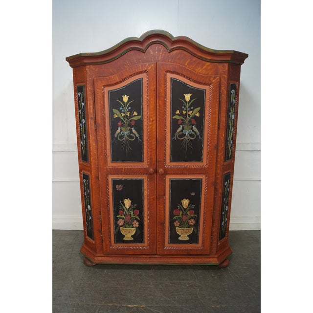 French Style Hand Painted Armoire Cabinet - Image 2 of 10