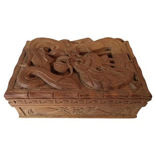 Hand-Carved Dragon Box