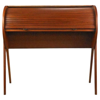Danish Modern Roll-Top Desk