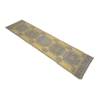 "Distressed Oushak Rug Runner - 2'11"" x 11'9"""
