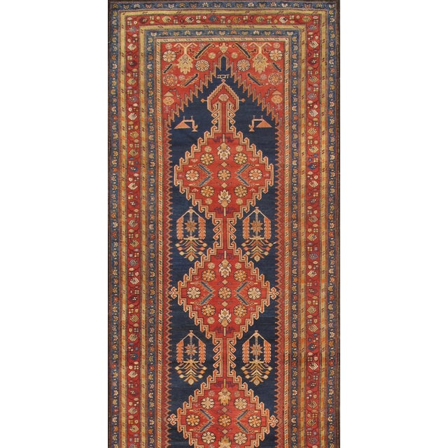 "Pasargad Antique Malayer Wool Area Rug- 4' 0"" X 14' 0"" - Image 2 of 2"
