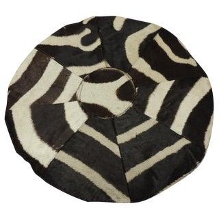 Vintage Round Zebra Skin Patch