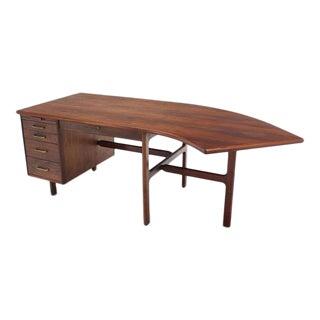 Danish Mid Century Modern Boomerang Shape Desk