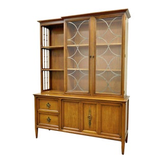 Vintage Century Furniture Mid-Century Modern Walnut China Cabinet Bookcase