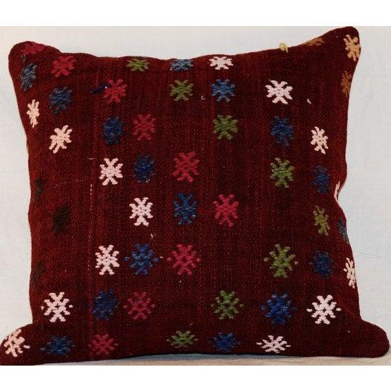 Vintage Bohemian Handmade Kilim Pillow - Image 5 of 7