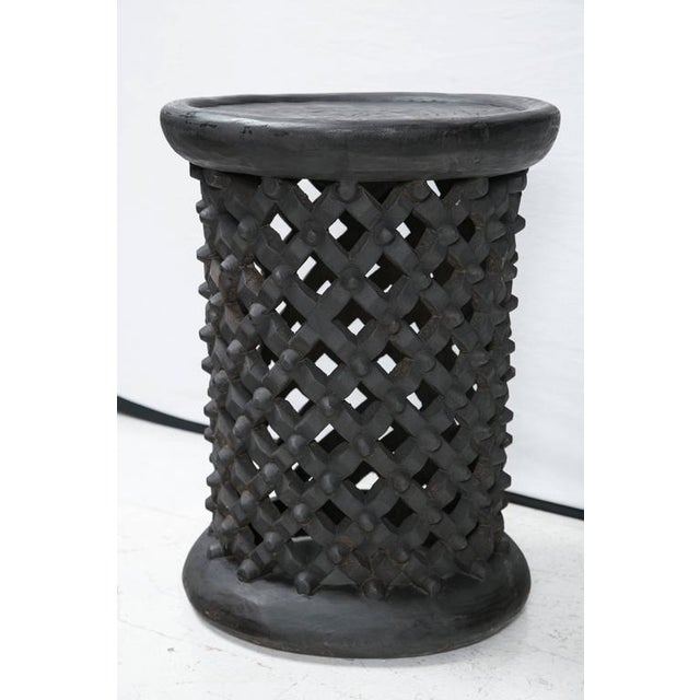 Tall Hand Carved African Cameroon Table - Image 2 of 8