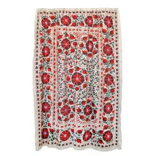Vintage Pomegranate Suzani Tapestry