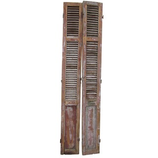 Rustic French Shutters- A Pair