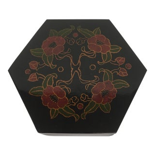 Vintage Lacquer Hexagon Box