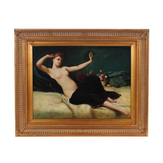 Reclining Female Oil Painting by N. Bingham