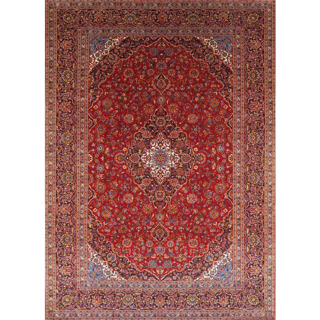 "Pasargad Kashan Collection Rug - 9'7"" X 13'5"" - Image 1 of 2"