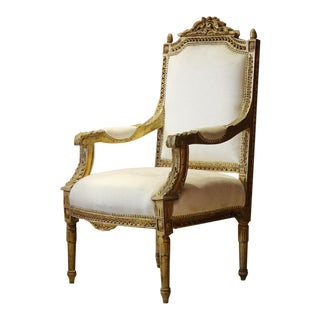 Victorian Giltwood Carved Armchair