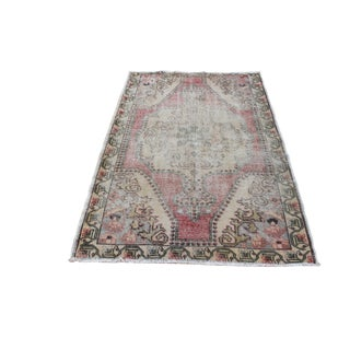 Vintage Oriental Floor Turkish Oushak Carpet