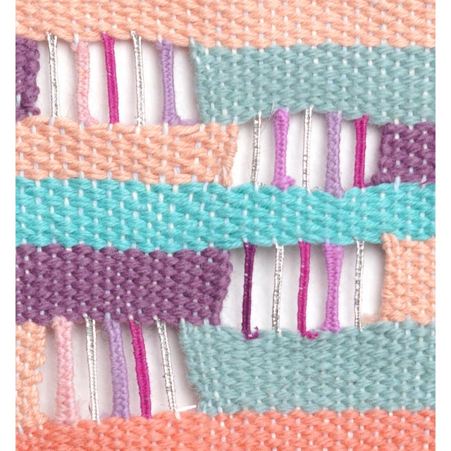 Layered Woven Wall Hanging Textile Art - Image 2 of 2