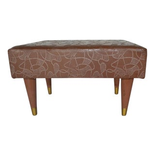 Mid Century Modern Ottoman/Footstool
