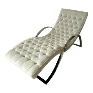 Tufted Velvet Chaise Lounge