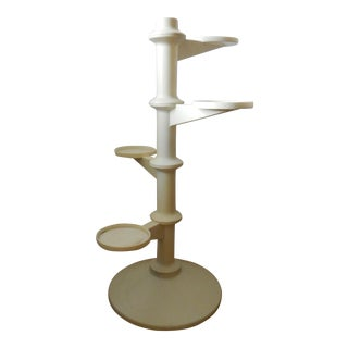 1970s Space Age White Plant Stand