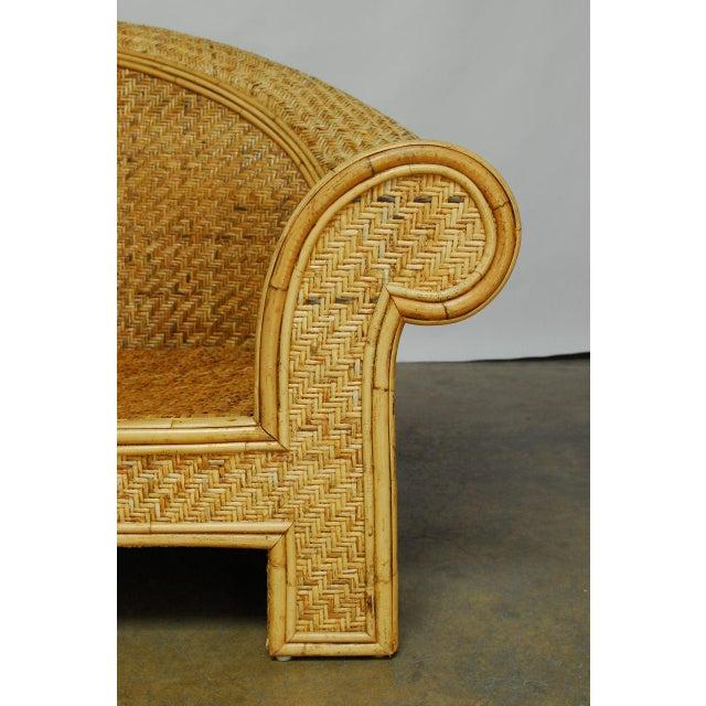 Ralph Lauren 1980 Bamboo Settee - Image 3 of 6