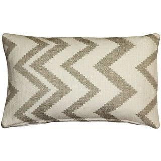 Pillow Decor - Lorenzo Zigzag Cream 12x20 Pillow
