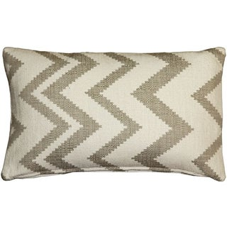 Pillow Decor - Lorenzo Zigzag Cream 12x20 Pillow
