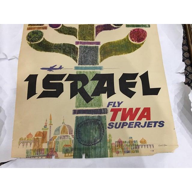 1960 David Klein 'TWA Israel' Poster - Image 7 of 9