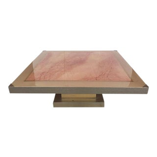 Faux Marble Square Coffee Table