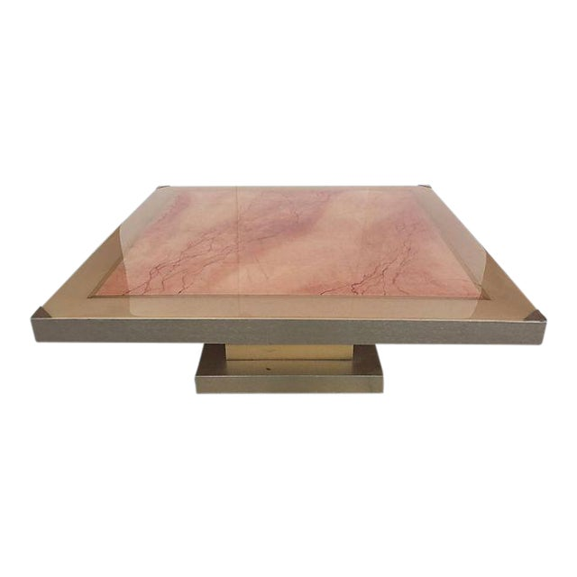 Image of Faux Marble Square Coffee Table