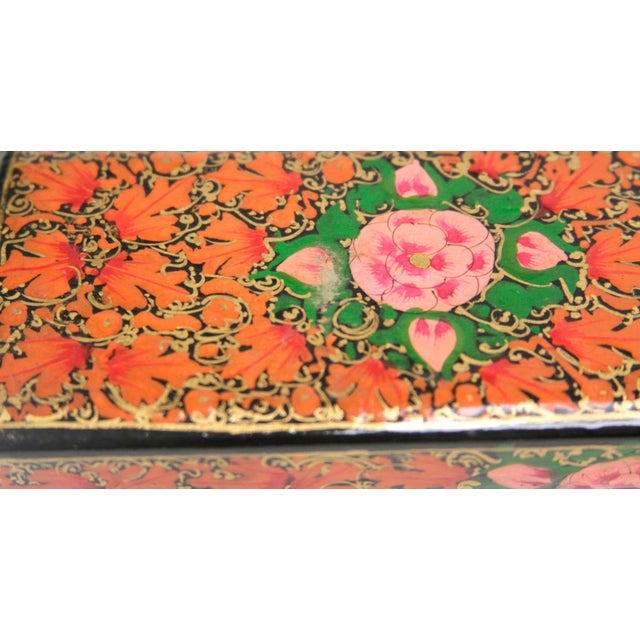Hand Painted Kashmiri Pencil Box II - Image 3 of 3
