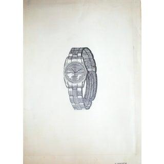 Rolex Watch Pen & Ink Line Drawing