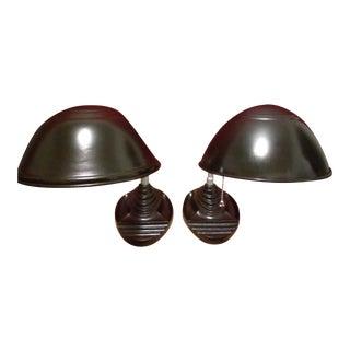 Vintage Gooseneck 'Eagle' Lamps - Pair