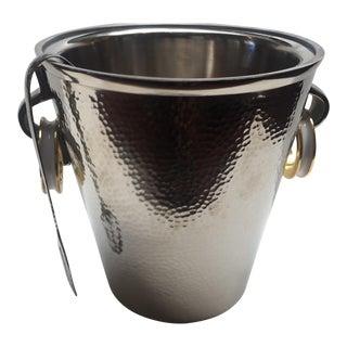 Modern Nickel Ice Bucket